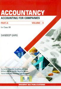 sandeepgargbooks Accountancy for class XII Part- A volume II Cbse