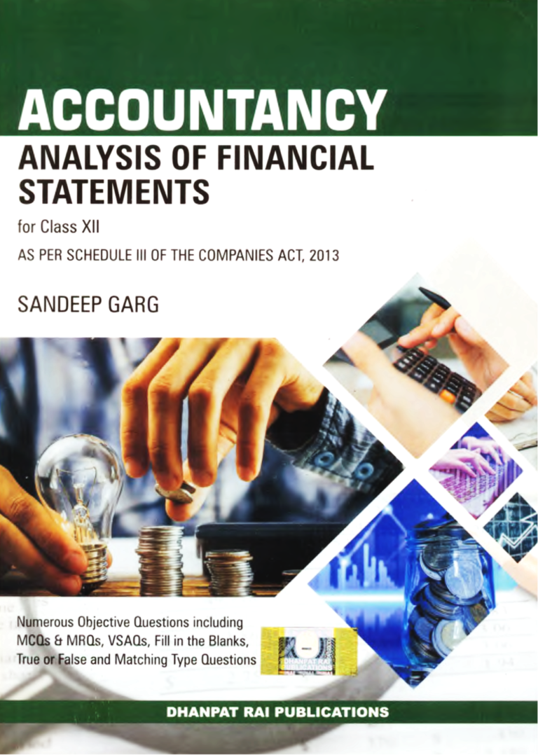 XII Acc. (Analysis of Financial Statements)Analysis of financial statement class XII sandeepgargbooks